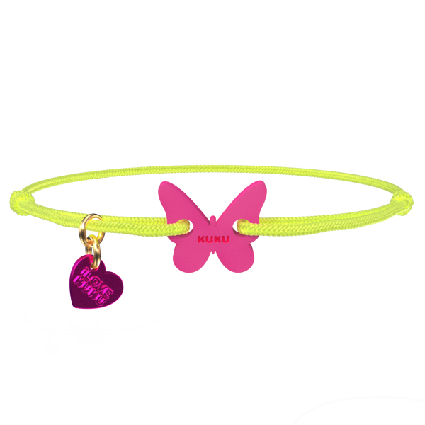 NARUKU - BUTTERFLY - Neonyellow-Pink