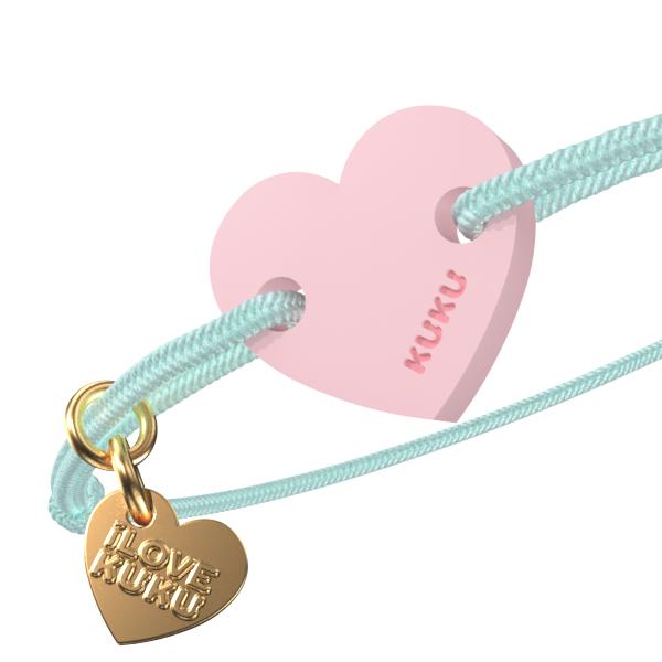 NARUKU - HEART - Babyblue-Babypink