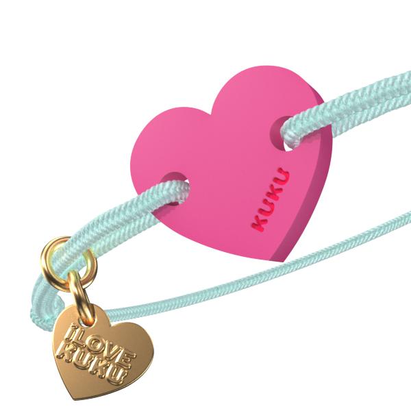 NARUKU - HEART - Babyblue-Pink