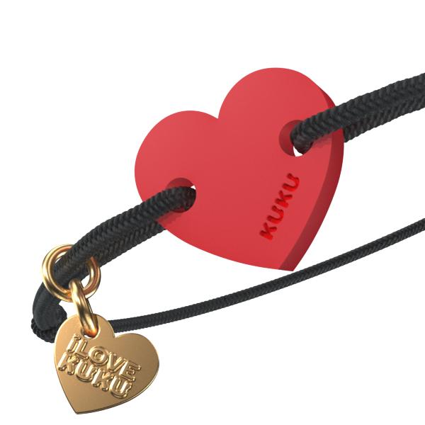 NARUKU - HEART - Black-Red