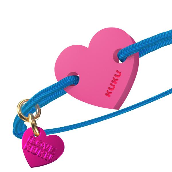 NARUKU - HEART - Blue-Pink