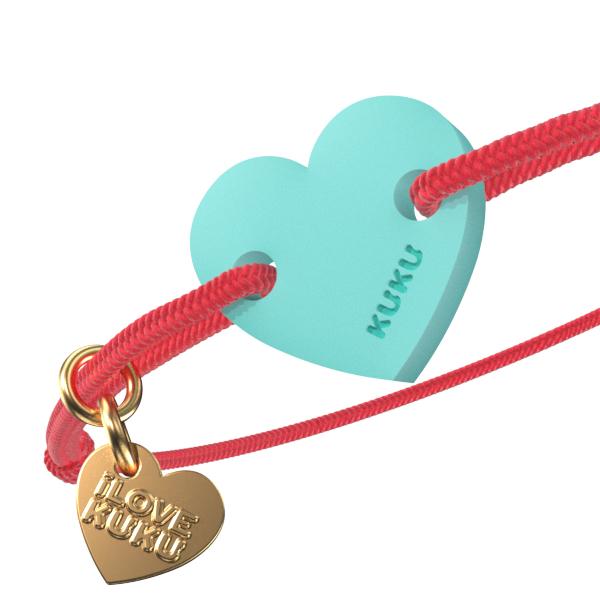 NARUKU - HEART - Neoncoral-Babyblue