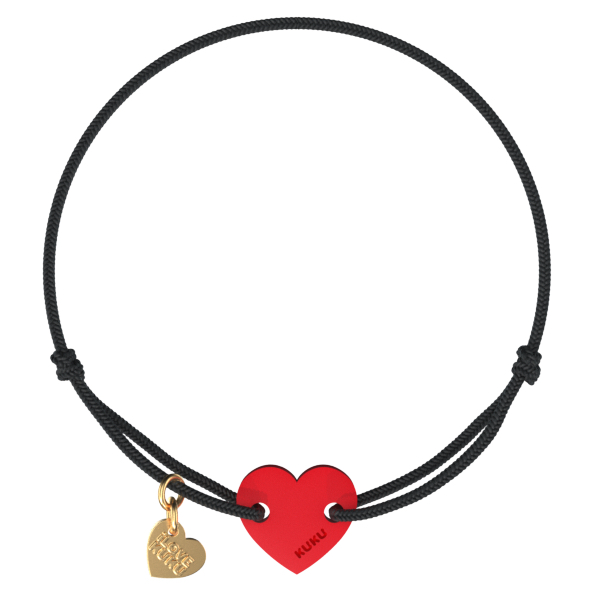 NARUKU - HEART - Black-Red