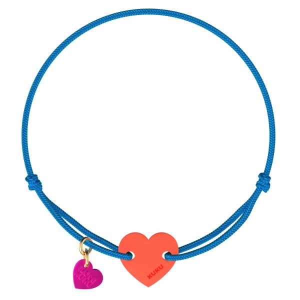 NARUKU - HEART - Blue-Coral
