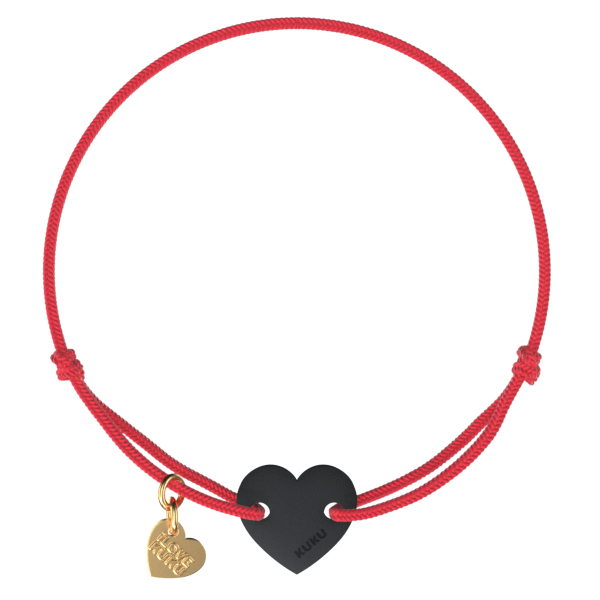 NARUKU - HEART -Red-Black
