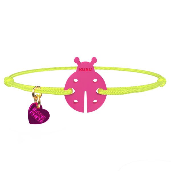 NARUKU - LADYBUG - Neonyellow-Pink