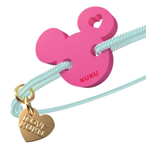 NARUKU - MICKEY LOVE - Babyblue-Pink