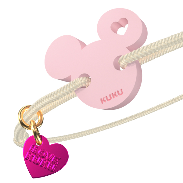 NARUKU - MICKEY LOVE - Beige-Babypink