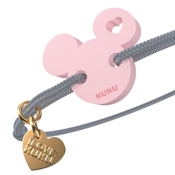 NARUKU - MICKEY LOVE - Gray-Babypink