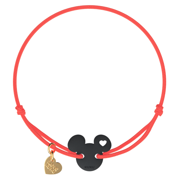 NARUKU - MICKEY LOVE - Neoncoral-Black