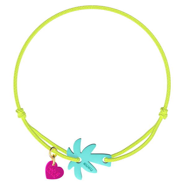 NARUKU - PALM TREE - NeonYellow-Babyblue