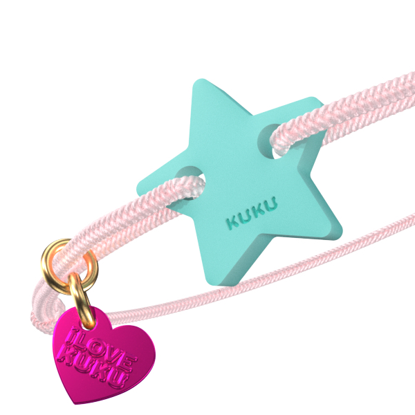 NARUKU - STAR - Babypink-Babyblue