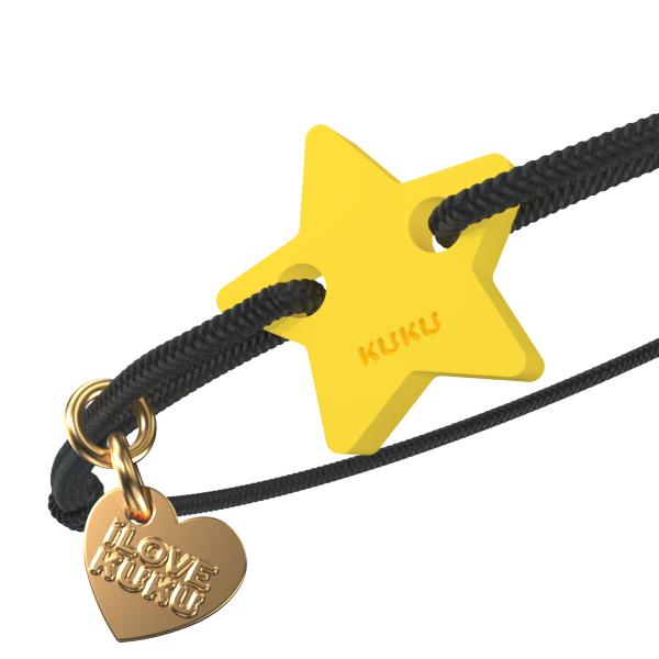 NARUKU - STAR - Black-Yellow