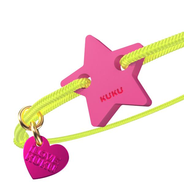 NARUKU - STAR - NeonYellow-Pink