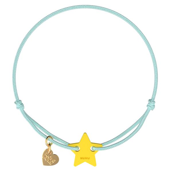 NARUKU - STAR - Babyblue-Yellow