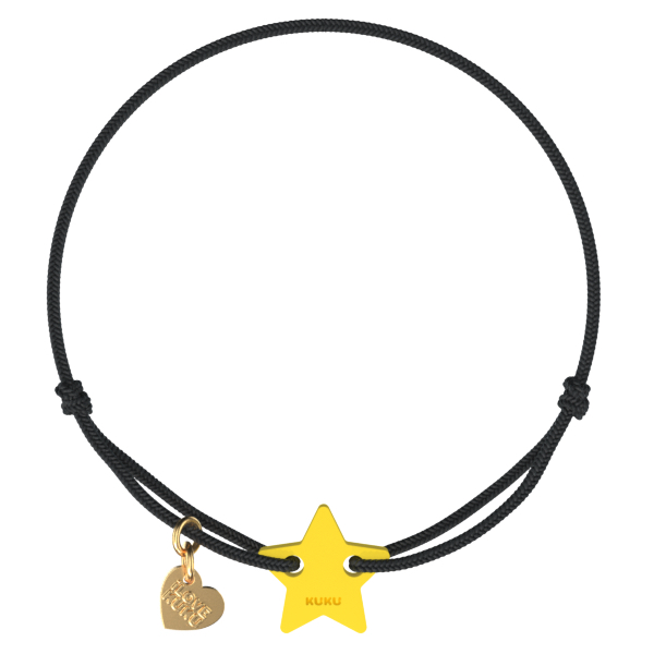 NARUKU - STAR - Black-Yellow