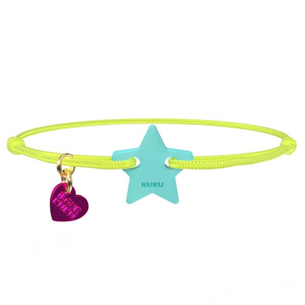 NARUKU - STAR - NeonYellow-Babyblue