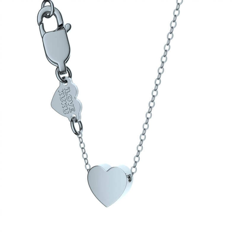 LITTLE Heart: Rhodium Silver