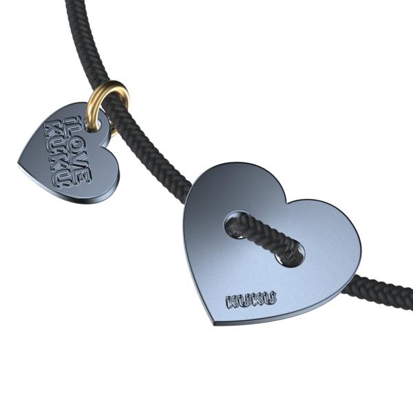 MINI - HEART: Black-Space Grey