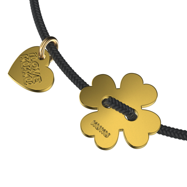MINI - FOUR LEAF: Black-Gold