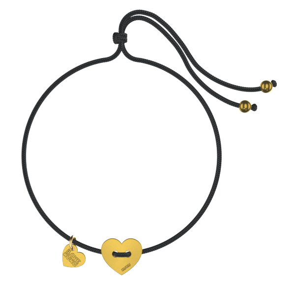 MINI - HEART: Black-Gold