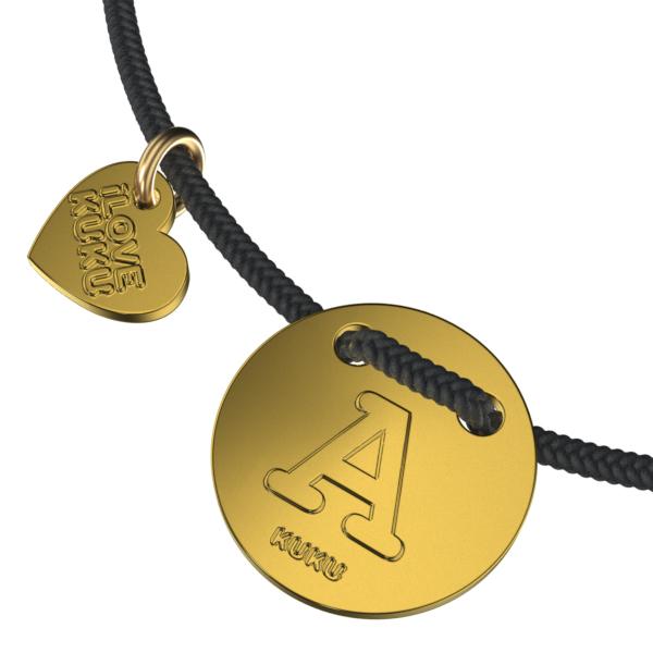 LETTER -A: Black-Gold