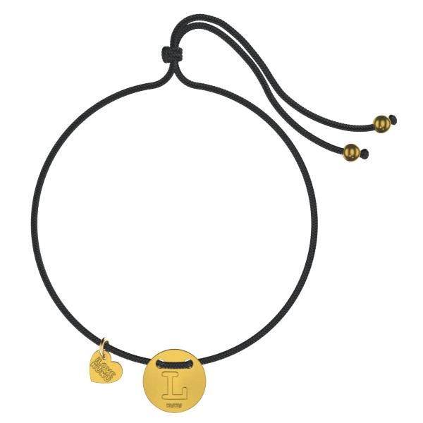 LETTER -L: Black-Gold